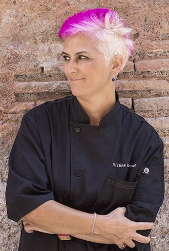 Cristina Bowerman, אחת השפיות האיטלקיות הבודדות שזכו לכוכב מישלן ומהדמויות המובילות בסצנה הגסטרונומית העולמית.